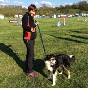 Dog agility with Audra and Riley